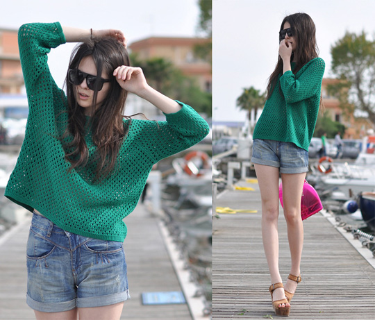 WASTED DREAMS  - Shoes, Weeken, Green Jumper, MANGO, Doina Ciobanu, Canada