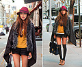 Braving the Cold in the Streets of New York., Cape, Fendi, Lace Up Oxford Heels, Chloe, Bag, Weeken, Aimee Song, United States