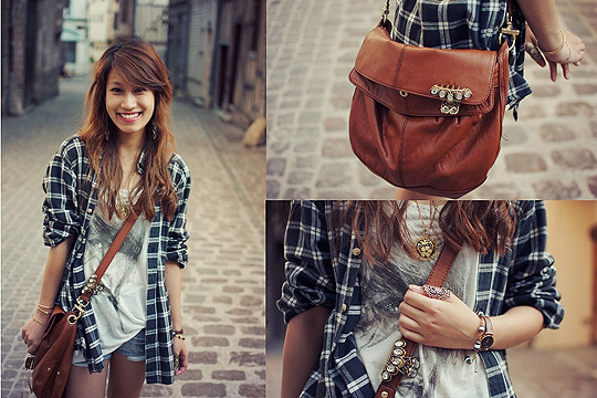 Hey! You want a tattoo? - Bag, Weeken, Blouse, Weeken, Watch, Weeken, Helene Trinh, France