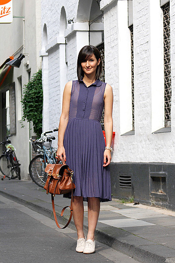Dotts - Dotted sheer dress, H&M, Bag, Weeken, Shoe, H&M, Golestaneh, Germany