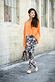 Casual Friday, Shaggy sweater, Weeken, Floral pants, Weeken, Joan pumps, Weeken, Olivia Lopez, United States