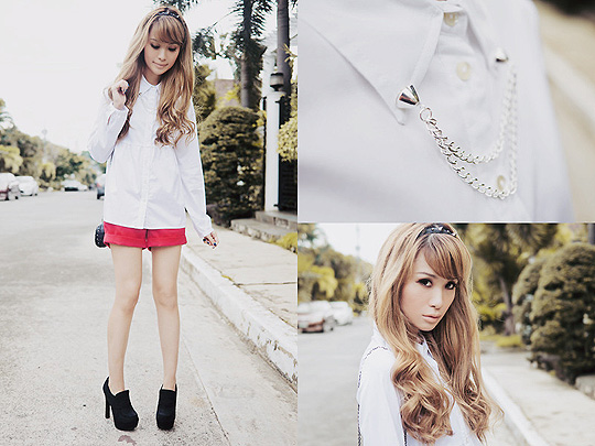 Bayo x Tricia G. - Top, Weeken, Shorts, Weeken, Shoes, Forever21, Collar chain, Weeken, Tricia Gosingtian, Philippines