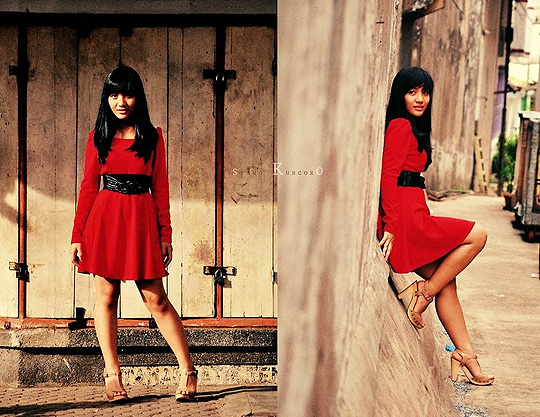 Red Sunshine - Dress, Zara, Wooden Heels, Weeken, Mila Anisa, Indonesia