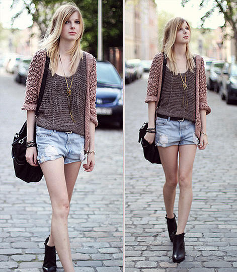 Coarse knit. - Bag, Weeken, Sweaters, Weeken, Pants, Zara, Shoes, Topshop, Jana Spaceman, Germany