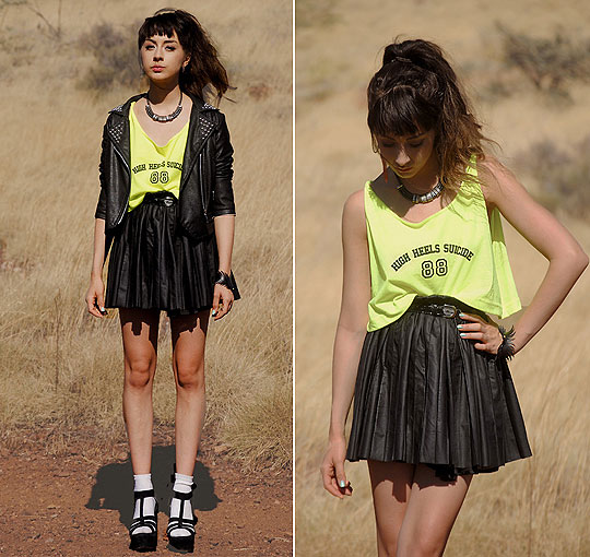 He Bites on the Neon - Top, Weeken, Jacket and skirt, Weeken, BRACELET, Weeken, Autilia Antonucci, Australia