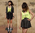 He Bites on the Neon, Top, Weeken, Jacket and skirt, Weeken, BRACELET, Weeken, Autilia Antonucci, Australia