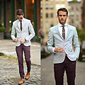 NYFW 3 - Blazer, Weeken, Tie, Weeken, Plum trousers, Topman, Oxfords, Weeken, Tie bar, Weeken, Adam Gallagher, Canada