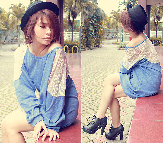 Let it be - Lace sweater, Weeken, Ankle boots, Weeken, Anastasia Siantar, Indonesia