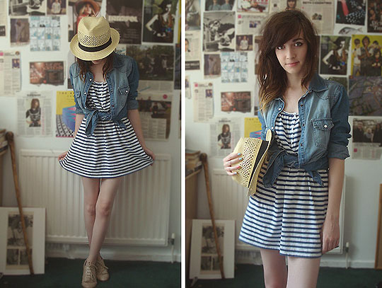 Beach Fossils - Hat, Weeken, Denim shirt, Weeken, Dress, H&M, Ashleigh F, United Kingdom