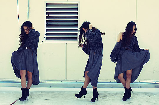 Higher than high - Dress, Weeken, DIY cut-off sweater, Weeken, Boots, Zara, Arizka Sehoko, United States