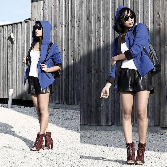 HEY SCUBADIVER! - Leather shorts, H&M, Shoes, Alexander Wang, Anjelica Lorenz, Germany