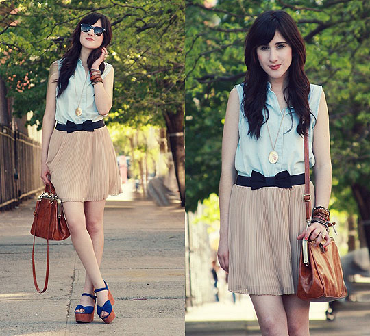 Spring in NYC - Top, Weeken, Skirt, Forever21, Bag, Weeken, Shoes, Weeken, Bonnie Barton, China