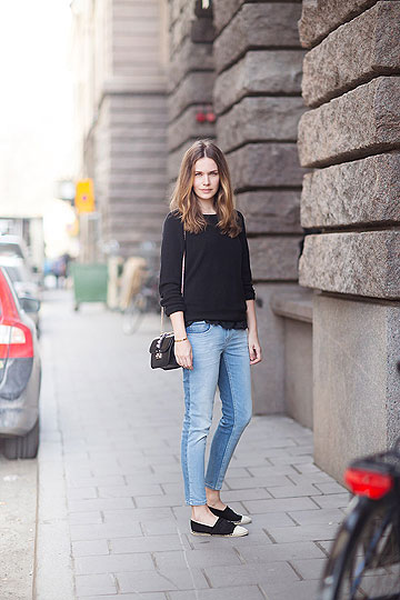 Two tone denim - Bag, Valentino, Jeans, Zara, Knit, Weeken, Caroline B, Sweden