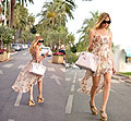 Chiara Ferragni, Long dress, but in the back,
