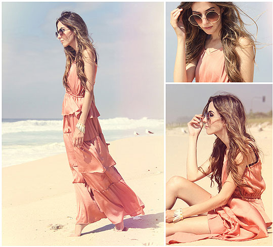 Sweet summer ♥ - Dress, H&M, Sunglasses, Weeken, Bracelets, Weeken, Flávia Linden, Brazil