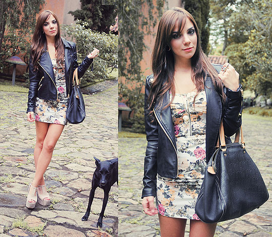 THE HUNTREND: Leather jacket - Jacket, Mango, Dress, Bershka, Shoes, Weeken, BAG, Carolina Herrera, Guiri Uribe, Spain