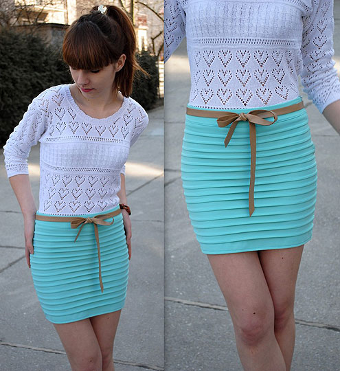 Mint skirt ;) - SKIRTS, Weeken, Hannnah P, Poland