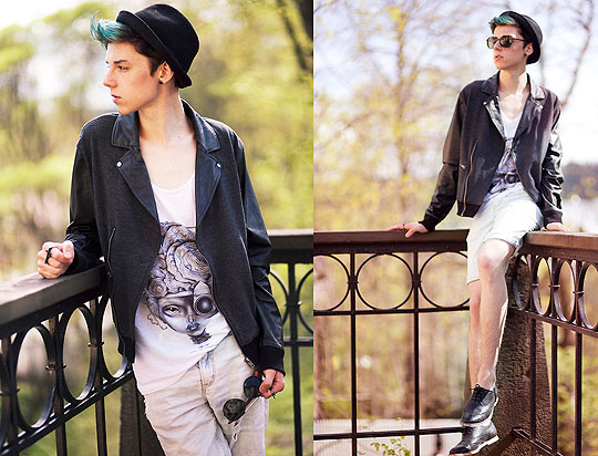 The wasted years, the wasted youth - Shirt, Weeken, Jacket, Topman, Shorts, H&M, Shoes, ASOS, Mikko Puttonen, Finland