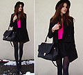 CUT OUT COAT & BRIGHT PINK SHIRT, Cut out boat, Weeken, Bag, Weeken, M. K, Switzerland