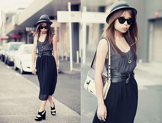 Steely - Beatnik hip bag, Weeken, Layla block heels, Topshop, Skirt, ASOS, Marcella L, New Zealand