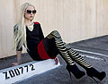 Black | Red | Gold - Sunglasses, Weeken, Necklace, Forever21, Dress, Forever21, Tights, Weeken, Marie Hamm, United States