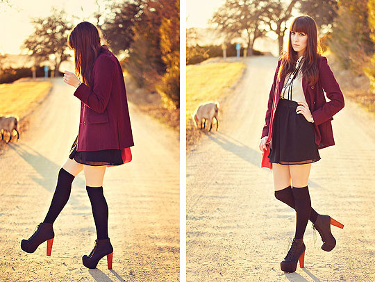 Adventure calls with unknown voices. - Coat, Forever21, Litas, Weeken, Michelle Elizabeth R