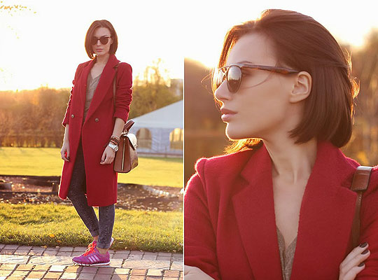 Color - Sneakers, Adidas, Coat, Weeken, Bag, Weeken, Rita Galkina, Russia