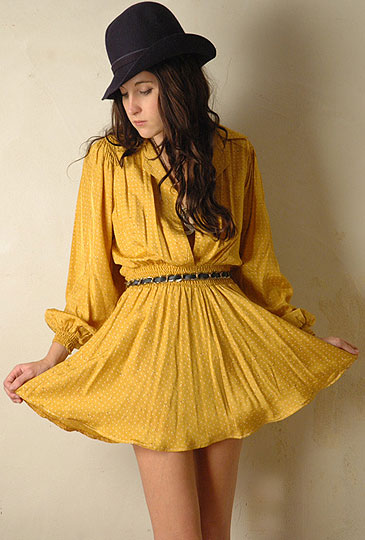 Ray of SUNshine - Vintage 50s yellow mini dress, Weeken, Rachel Hunt, United Kingdom