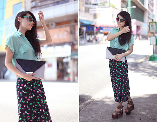Going Retro Green. - Top, Weeken, Skirts, Weeken, Sybil Kot, Hong Kong