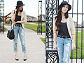 Head out to horizon lines, Boyfriend Jeans, Weeken, Wide brimmed hat, Forever21, Tank Top, Forever21, Breanne S, Canada