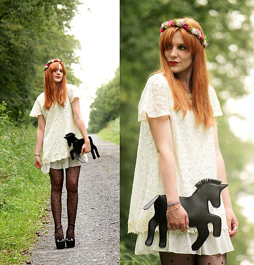 My little Poney - Flowers crown, Weeken, Nude dress, Weeken, Licorne purse, Weeken, Cats wedges, Weeken, Chloe D, France