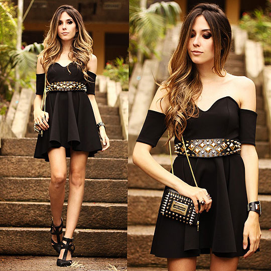 Little black dress - Dress, Weeken, Bag, Weeken, Belt, Weeken, Flávia Linden, Brazil