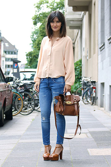 Natural - Coral sheer blouse, Weeken, Platform sandals, See by Chloe, Golestaneh, Germany