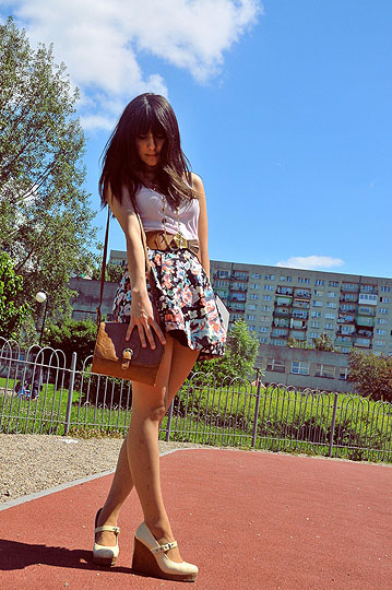Retro shoes!! - Skirt, H&M, Shoes, Weeken, Inez A, United Kingdom