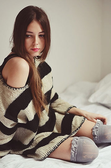 HOME - Sweater, Weeken, Overknee socks, Weeken, Kasia Gorol, Poland