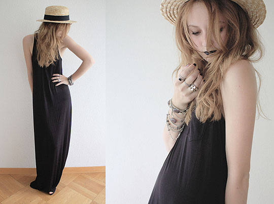My darlin', she's a drifter - Maxi dress, H&M, Katrina J, Switzerland
