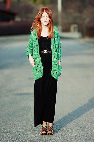 MODERN GRANDMA - Maxi dress, H&M, Crochet cardigan, Weeken, Linnea Jacobson, Korea