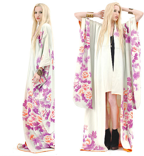 The White Witch. - Watercolor Silk Kimono, Weeken, Platform Booties, Weeken, Marie Hamm, United States