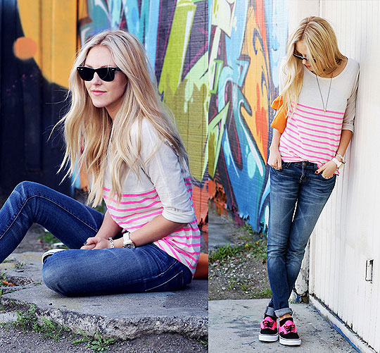 WILD FOR NEON - Top, Gap, Jeans, Weeken, Shoes, Vans, Shea Marie, United States
