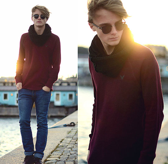 October Sun - Sweaters, Weeken, Scarves, Weeken, Pants, Weeken, Theo Ortengren, Sweden