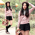 Preppy in pink, Sweaters, Weeken, Shorts, Weeken, BAGS, Weeken, Yuki Lo, Hong Kong