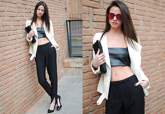 The Shorter, The Better - Sunglasses, Marc by Marc Jacobs, Top, Zara, Pants, Weeken, Zina CH, Spain