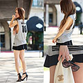 Downtown sedgwick, uptown casual - Sedgwick tank, Weeken, Vintage brooch, Chanel, Heels-wedges, Weeken, Anna Le, United States