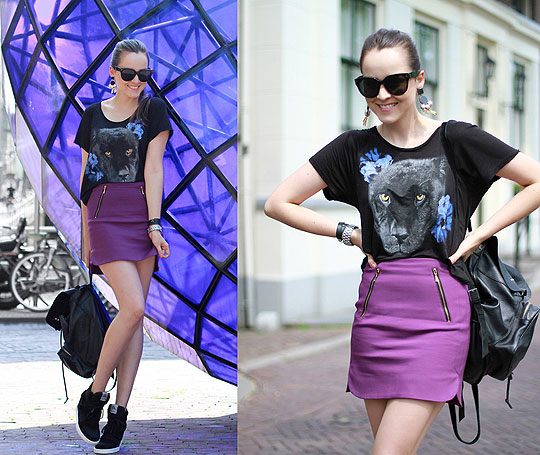 THE PANTHER - SHIRT, Monki, SKIRT, Zara, Sneakers, ASH, Andy T, Mexico