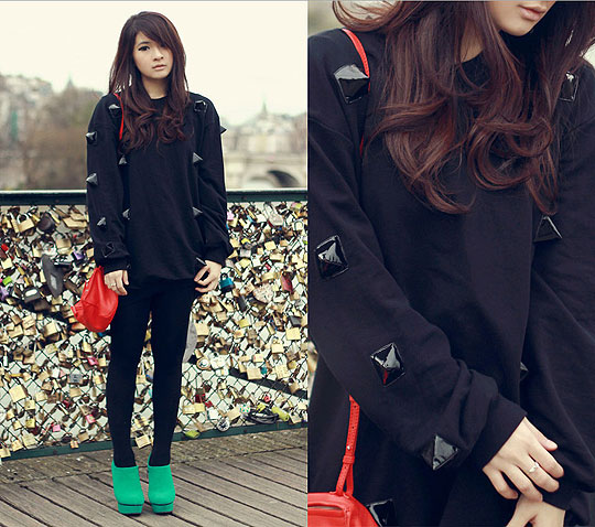 Padlocks - Studded sweater, Weeken, Pandora sling bag, Givenchy, Anastasia Siantar, Indonesia