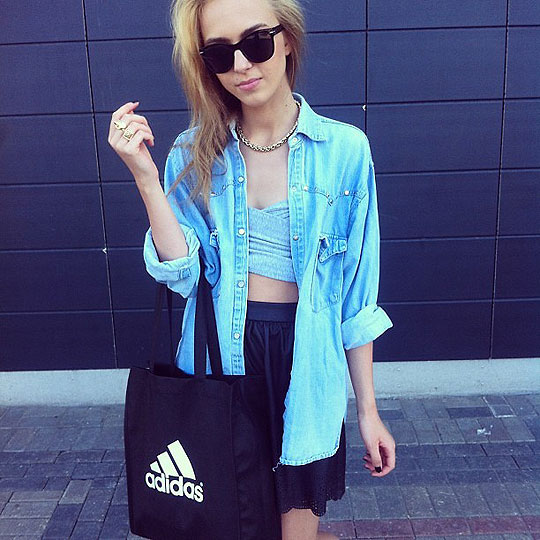 ADIDAS - ADIDAS SHOPPING BAG, Adidas, Coats, Weeken, Skirts, Weeken, Agnija Grigule, Latvia