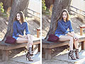 It Might As Well Be Spring, Denim shirt, Weeken, Shorts, Weeken, Heels-wedges, Weeken, Bethany Struble, United States