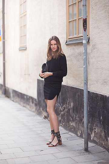 All black - Sandals, Isabel Marant, Bag, Valentino, Skirt, Weeken, Heels-wedges, Weeken, Caroline B, Sweden