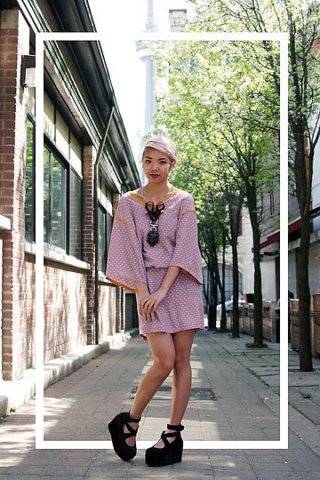 Lilac and mustard - Dress, H&M, Necklace, Weeken, Shoes, Weeken, Dani Roche, Canada