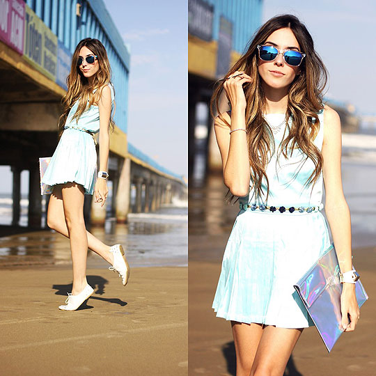 Le ciel bleu - Dress, Weeken, Sunglasses, Weeken, Clutch, Weeken, Flávia Linden, Brazil